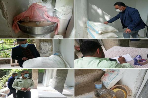 پلمپ یک واحد طبخ نان خانگی توسط اتباع غیرمجاز در شهر کیلان با دستور دادستان شهرستان دماوند