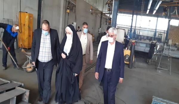 بازدید فرماندار و رئیس اداره صمت شهرستان قدس از شرکت صنایع فلزی چناقچی
